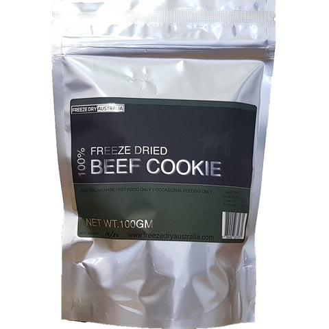 Freeze Dry Australia Beef Cookie Dog Treats 100g - Kohepets