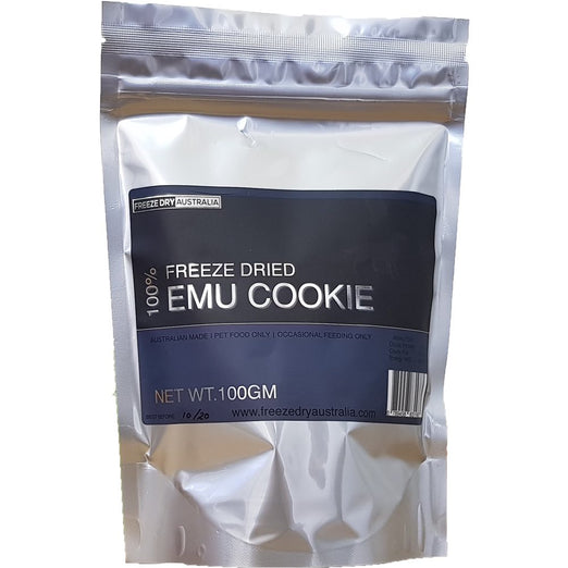 BUY 2 GET 1 FREE: Freeze Dry Australia Emu Cookie Dog Treats 100g