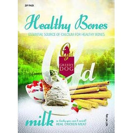 3 FOR $9: Greedy Dog Healthy Bones Milk Dog Treat 80g (Exp 21 Jun 19)