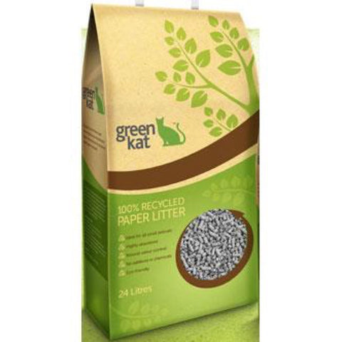 Green Kat Recycled Paper Cat Litter 24L