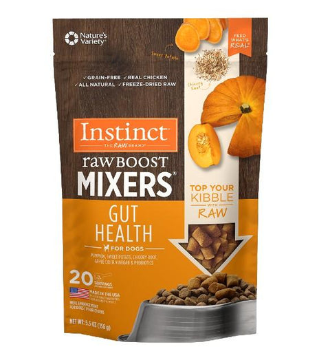 Instinct Raw Boost Mixers Gut Health Freeze-Dried Topper Dog Food - Kohepets