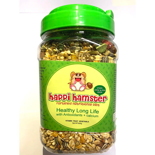 10% OFF: Happi Hamster Healthy Long Life Fortified Nutritional Diet 600g - Kohepets
