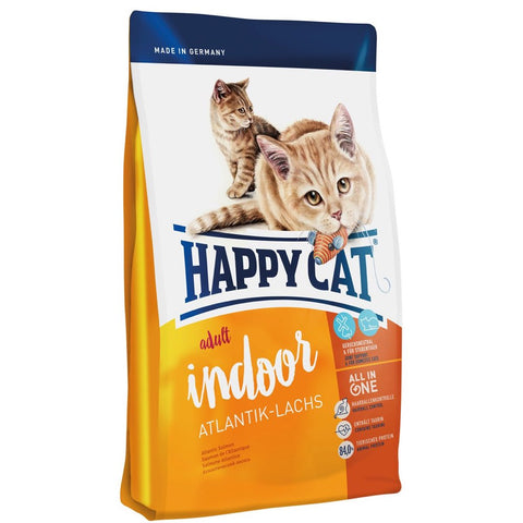 Happy Cat Indoor Atlantik Lachs Atlantic Salmon Adult Dry Cat Food 1.4kg - Kohepets