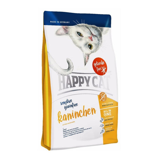Happy Cat Kaninchen Rabbit Adult Sensitive Grain-Free Dry Cat Food 1.4kg - Kohepets