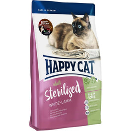 Happy Cat Sterilised Weide Lamm Farm Lamb Adult Dry Cat Food