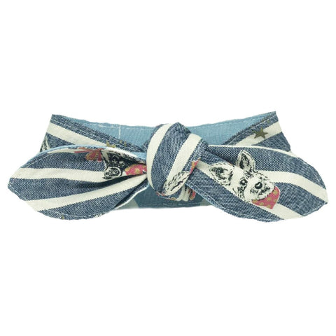 Hey Cuzzies Pup Hours Reversible Scarf for Cats & Dogs - Kohepets