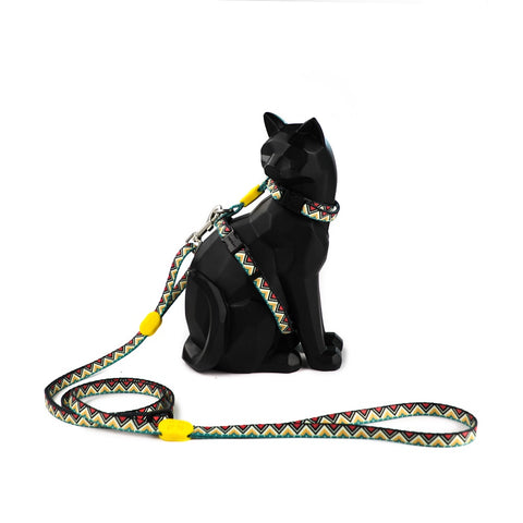 10% OFF: HiDREAM Profusion Cat H-Harness & Leash Set (Totem) - Kohepets