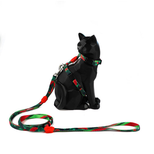 HiDREAM Profusion Cat H-Harness & Leash Set (Watermelon) - Kohepets