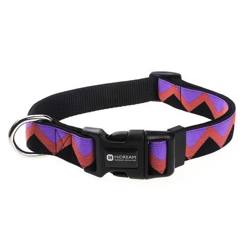 HiDREAM Rainbow Adjustable Dog Collar (Black) - Kohepets