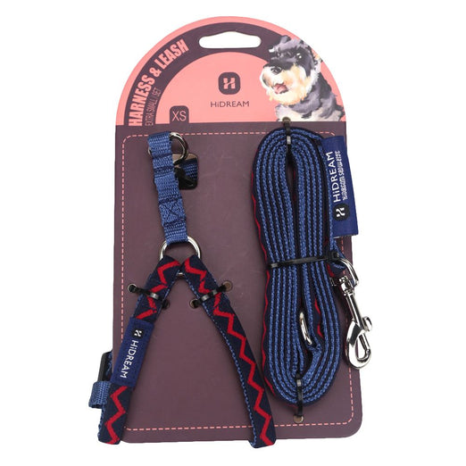10% OFF: HiDREAM Rainbow Mini Dog Harness & Leash Set (Navy Blue) - Kohepets