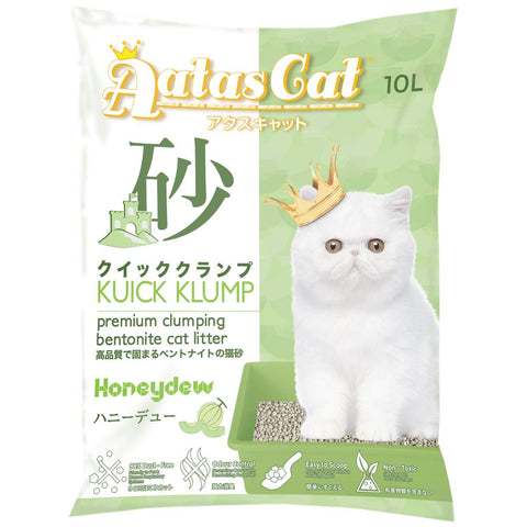Aatas Cat Kuick Klump Bentonite Cat Litter Honeydew 10L - Kohepets