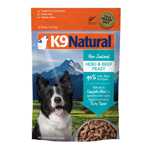 K9 Natural Freeze Dried Hoki & Beef Feast Raw Dog Food