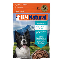 K9 Natural Freeze Dried Hoki & Beef Feast Dog Food Topper 100g