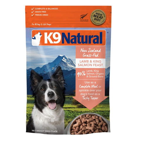 K9 Natural Freeze Dried Lamb & King Salmon Feast Raw Dog Food