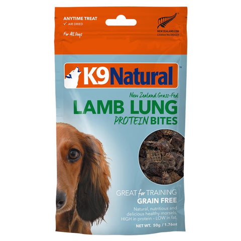 3 FOR $33.60: K9 Natural Lamb Lungs Protein Bites Dog Treats 60g