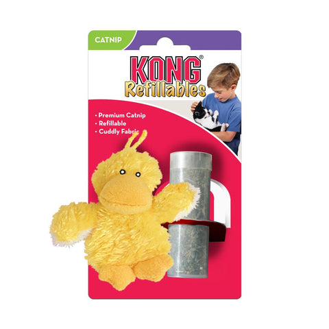 KONG Duckie Refillable Catnip Cat Toy - Kohepets