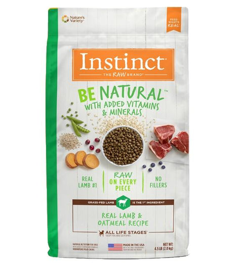 '25% OFF (Exp Apr 21)': Instinct Be Natural Real Lamb & Oatmeal Dry Dog Food - Kohepets