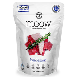 'BUNDLE DEAL': MEOW Beef & Hoki Grain-Free Freeze Dried Raw Cat Food 280g