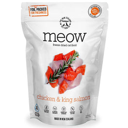 'BUNDLE DEAL': MEOW Chicken & King Salmon Grain-Free Freeze Dried Raw Cat Food 280g