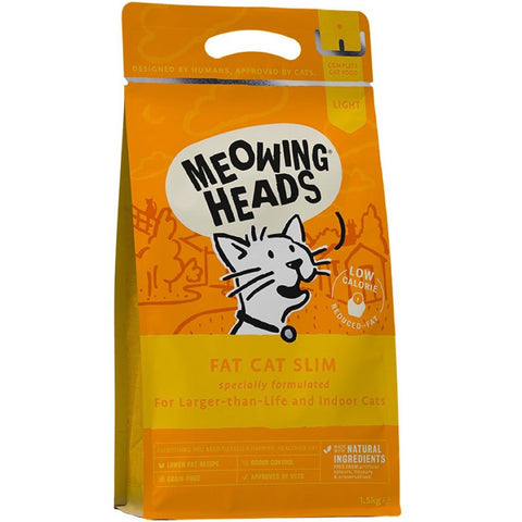 Meowing Heads Fat Cat Slim Dry Cat Food 1.5kg
