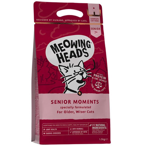 Meowing Heads Senior Moments Grain Free Dry Cat Food 1.5kg
