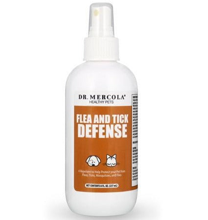 Dr. Mercola Healthy Pets Flea and Tick Defense 8oz - Kohepets