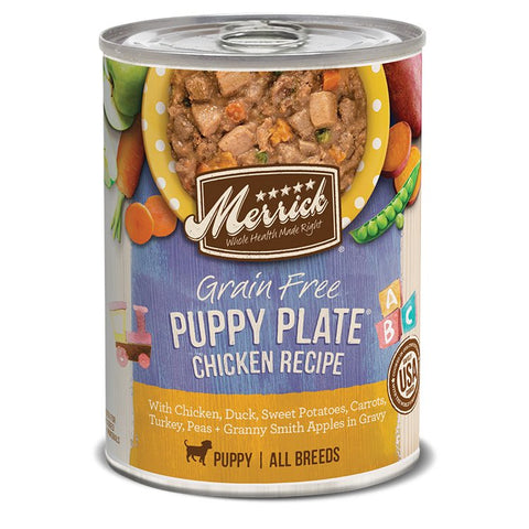 15% OFF (Exp 30 Nov): Merrick Classic Grain-Free Puppy Plate Canned Dog Food 360g - Kohepets