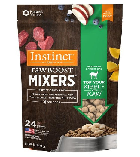 'SAVE UP TO $29': Instinct Raw Boost Mixers Lamb Freeze-Dried Raw Dog Food Topper - Kohepets