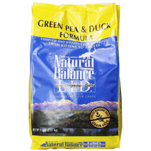 Natural Balance Limited Ingredient Diets Green Pea & Duck Dry Cat Food - Kohepets
