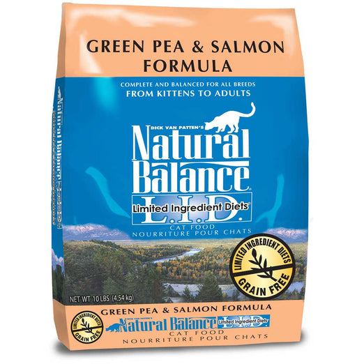 Natural Balance Limited Ingredient Diets Green Pea & Salmon Dry Cat Food - Kohepets