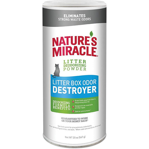 10% OFF: Nature's Miracle Just for Cats Litter Box Odor Destroyer Powder 20oz - Kohepets
