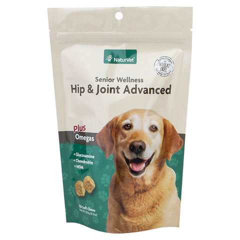 NaturVet Senior Wellness Hip & Joint Advanced Plus Omegas Soft Chews