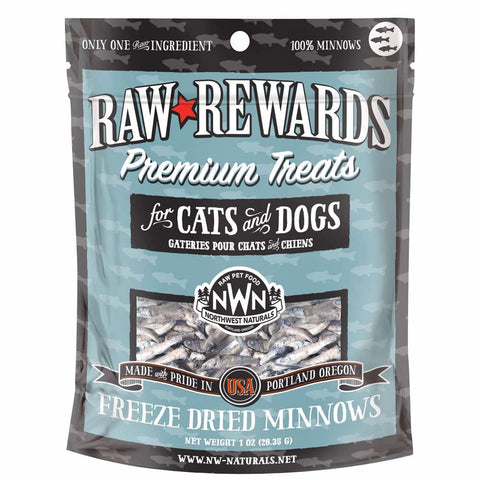 Northwest Naturals Raw Rewards Minnows Freeze-Dried Dog & Cat Treats 1oz - Kohepets