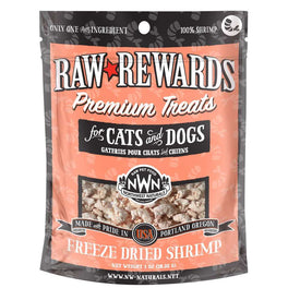 Northwest Naturals Raw Rewards Shrimp Freeze-Dried Dog & Cat Treats 1oz