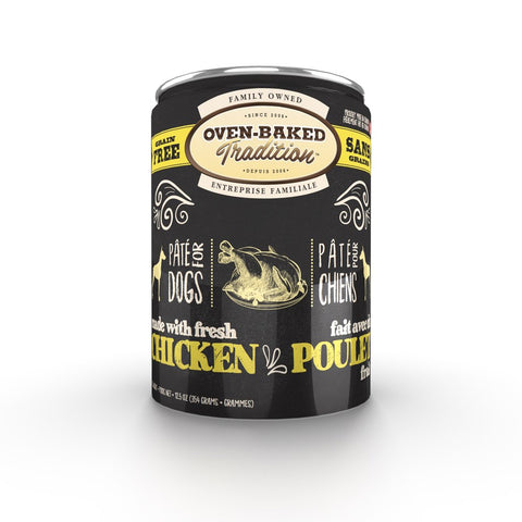 Oven-Baked Tradition Chicken Pate Grain-Free Canned Dog Food 12.5oz - Kohepets