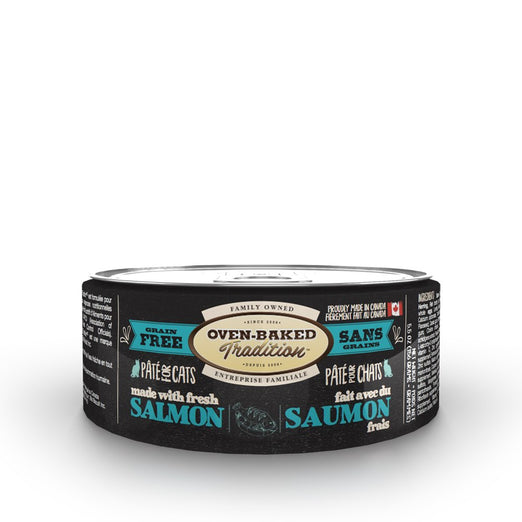 Oven-Baked Tradition Salmon Pate Grain-Free Canned Cat Food 5.5oz - Kohepets