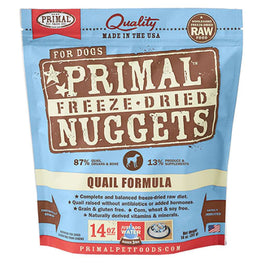 Primal Raw Freeze-Dried Quail Formula Dog Food 14oz