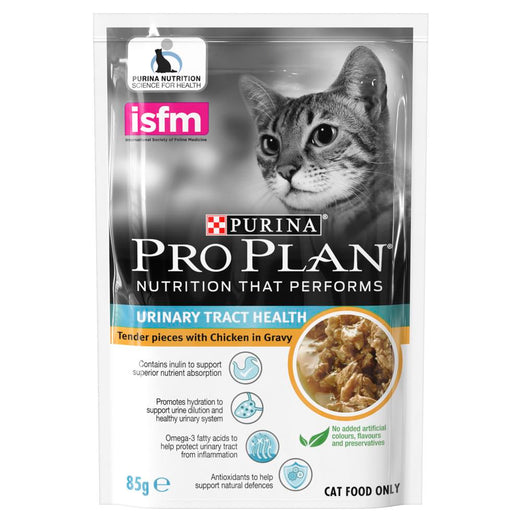 20% OFF: Pro Plan Urinary Tract Health Chicken In Gravy Adult Pouch Cat Food 85g x 12 - Kohepets