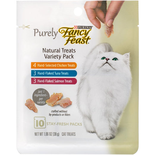 10% OFF: Fancy Feast Purely Natural Variety Pack Cat Treats 30g - Kohepets