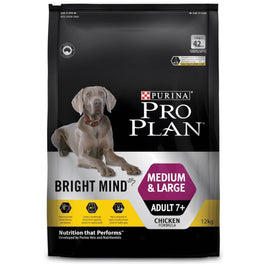 'FREE TREATS' + UP TO 30% OFF: Pro Plan Bright Mind Chicken Medium/Large Adult 7+ Dry Dog Food 2.5kg (Exp Oct 19)