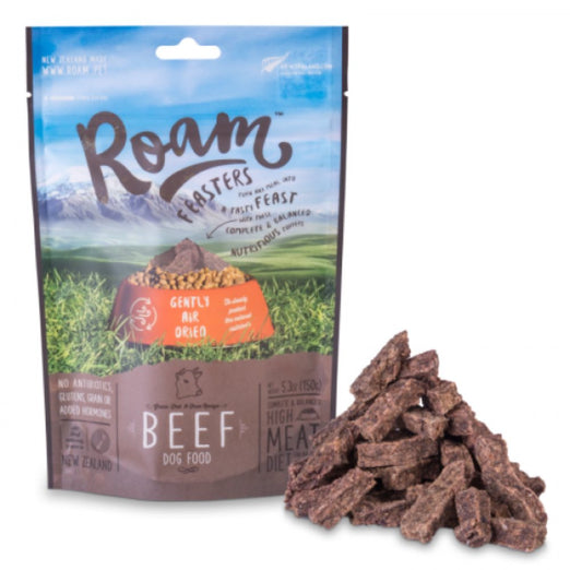 '50% OFF 150g (Exp 24 Oct)': Roam Grass-Fed Beef Grain Free Air Dried Dog Food