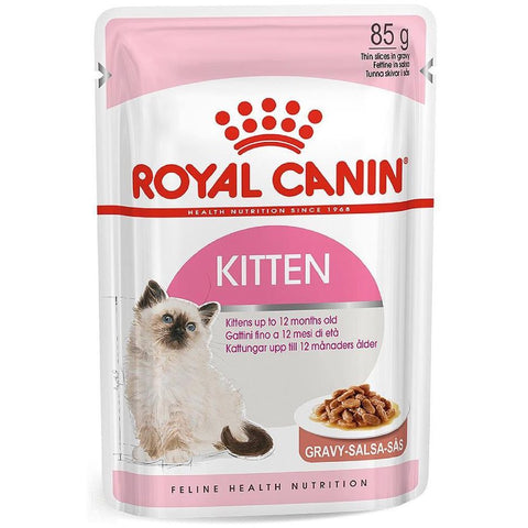 Royal Canin Feline Health Nutrition Kitten in Gravy Pouch Cat Food 85g