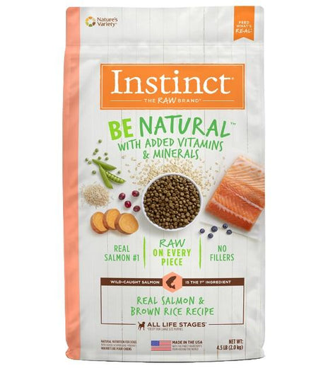25% OFF 4.5lb (Exp Mar 21): Instinct Be Natural Real Salmon & Brown Rice Dry Dog Food - Kohepets