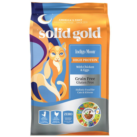 Solid Gold Indigo Moon With Chicken & Eggs Grain Free Dry Cat Food - Kohepets