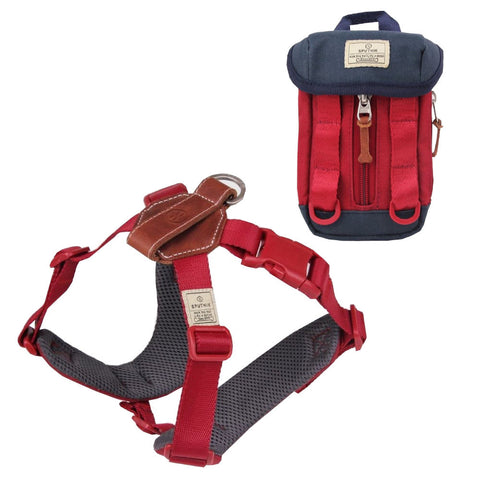 $5 OFF: Sputnik Comfort Dog Harness + Multi-Function Poop Bag Dispenser Set (Red)