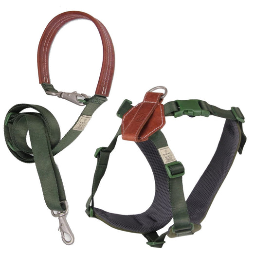 $5 OFF: Sputnik Comfort Dog Harness + Multifunctional Leash Set (Green) - Kohepets