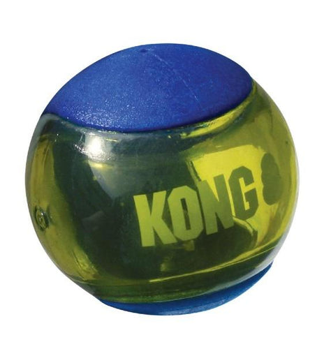 Kong Squeezz Action Blue Ball Dog Toy - Kohepets
