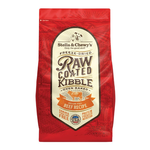 25% OFF + FREE TREAT: Stella & Chewy's Freeze-Dried Raw Coated Kibble Grass-Fed Beef Grain-Free Dry Dog Food