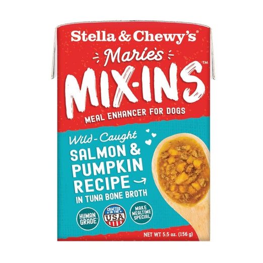 Stella & Chewy's Marie's Mix-Ins Salmon & Pumpkin Meal Enhancer Grain-Free Wet Dog Food 5.5oz - Kohepets