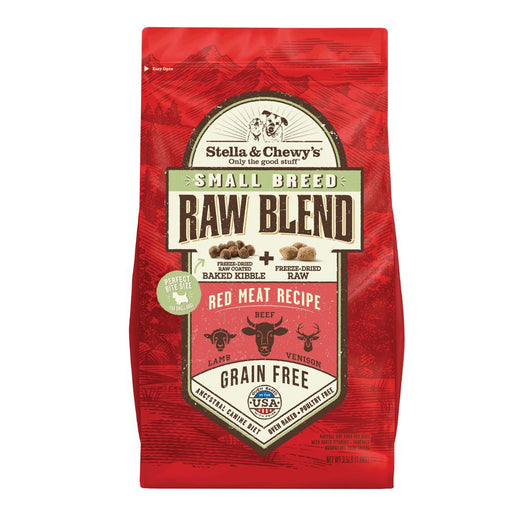 25% OFF + FREE BISCUITS: Stella & Chewy's Small Breed Raw Blend Red Meat Kibble With Freeze-Dried Raw Grain-Free Dry Dog Food 3.5lb
